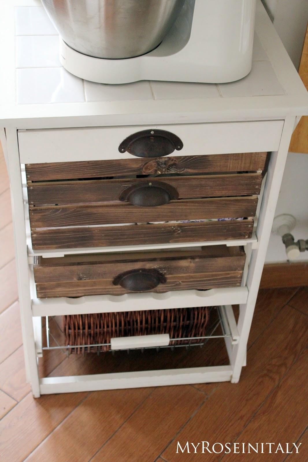 Carrello Cucina Legno Fai Da Te   Mobili Fai Da Te Salvaspazio Foto ...