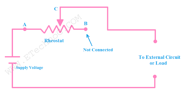 Connection Diagram of Rheostat