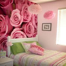 blommig tapet sovrum tapet rosor rosa tapet romantisk