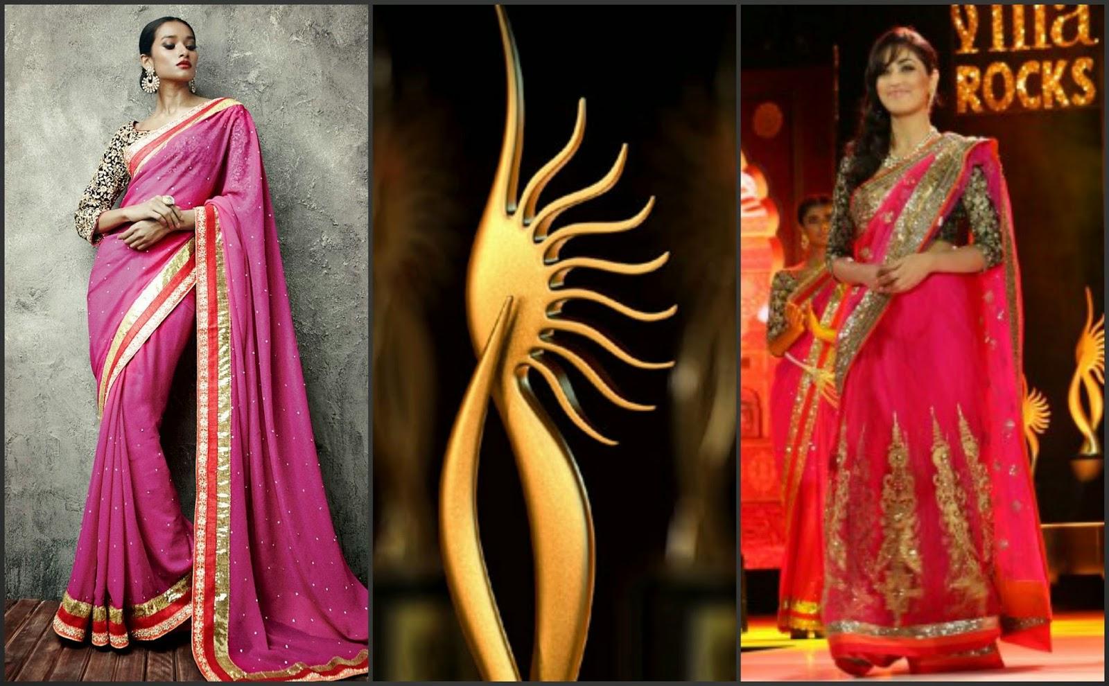 yami gautam iifa saree 2014, iifa saree collection