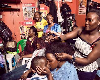 Alpha Omega Beauty salon in the Gazaland Mall in downtown Kampala Uganda