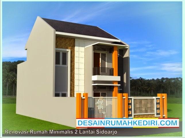 Renovasi Tampak Depan Rumah Minimalis  lt2 02 renovasi rumah minimalis 2 lantai bp oka sidoarjo