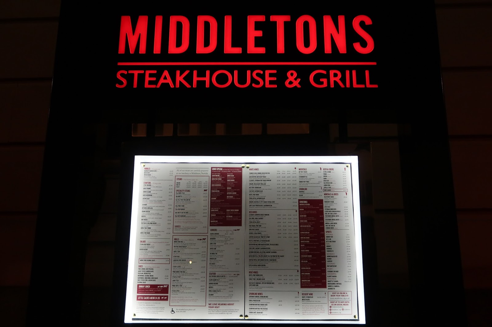 Middletons Steakhouse & Grill Restaurant Leicester Food Review
