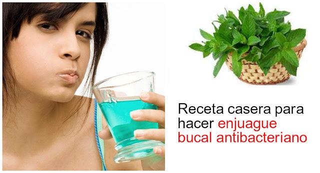 Receta casera para hacer enjuague bucal antibacteriano for Tratamiento antibacteriano