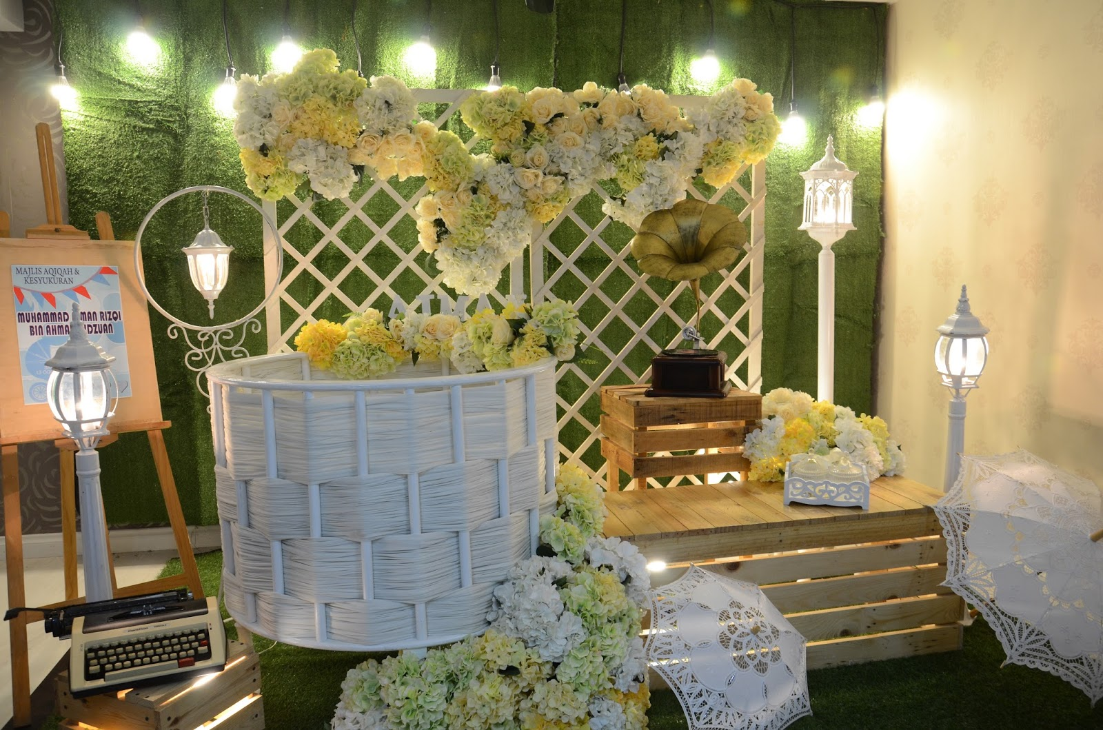 PELAMIN AQIQAH FOR BABY BOY GARDEN VINTAGE THEME