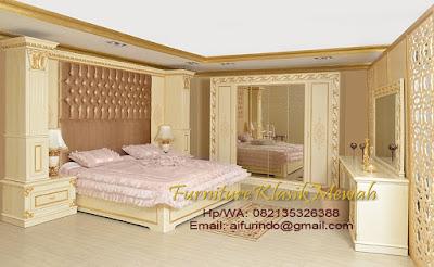 kamar set jati jepara-toko mebel jati klasik-furniture klasik mewah-toko jati-jual kamar set jati warna cream mewah