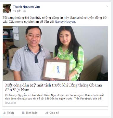 """Nancy Nguyễn """"mất tích""""?"""
