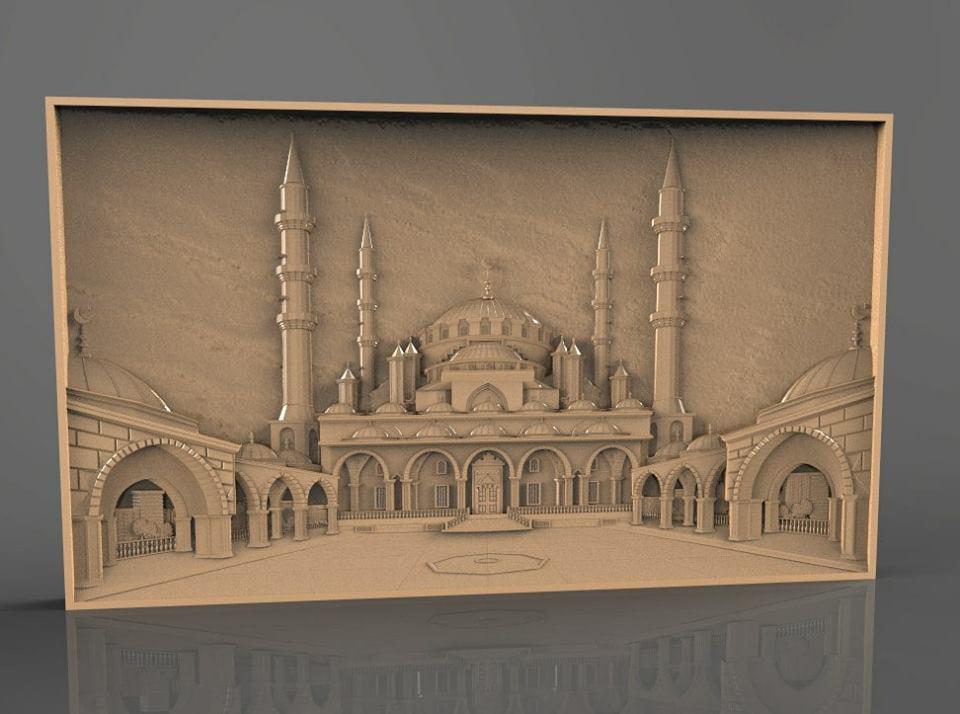 3d masjid free stl file - cnc world