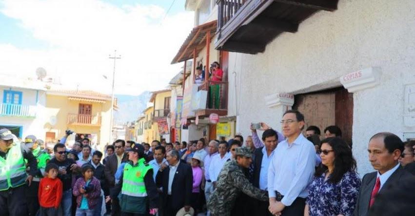 Presidente Martín Vizcarra asegura en Cotahuasi que atenderá con prioridad obras de educación y salud