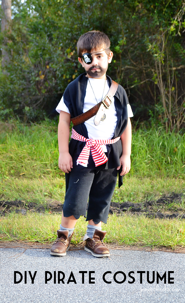 DIY Halloween Costumes for Boys - Ghost and Pirate & DIY Pirate and Ghost Halloween Costumes - Poofy Cheeks