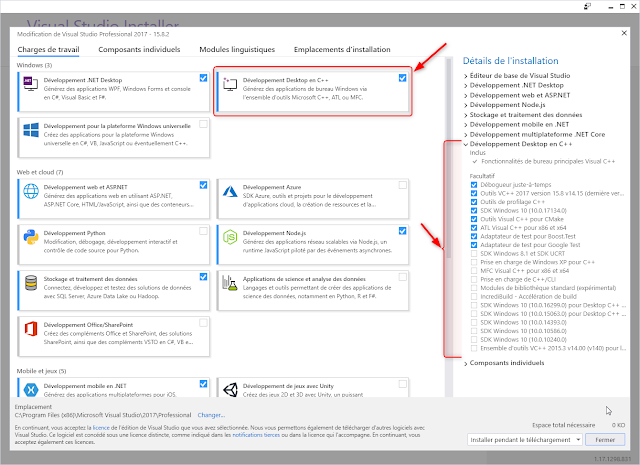 Developpment Desktop en C++ avec Visual Studio