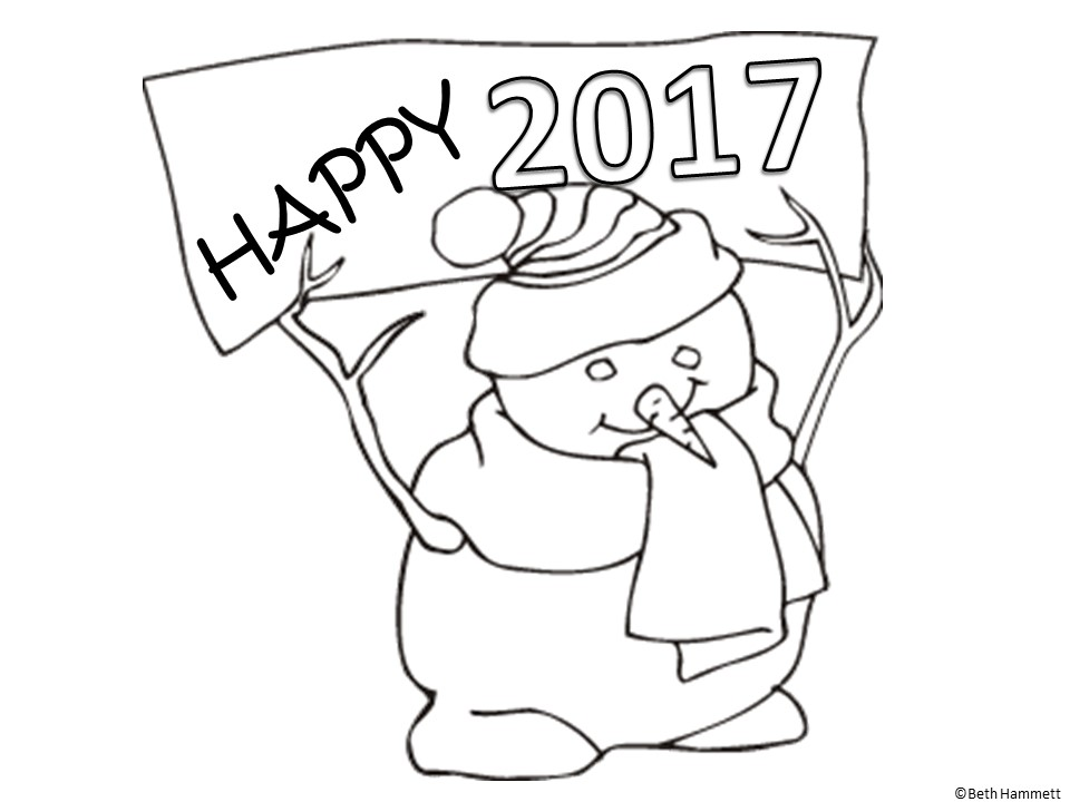 Education Helper: Happy New Year Free Coloring Sheets