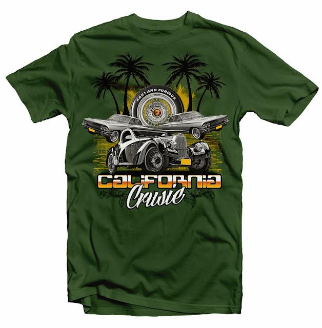 classic car vintage tshirt design