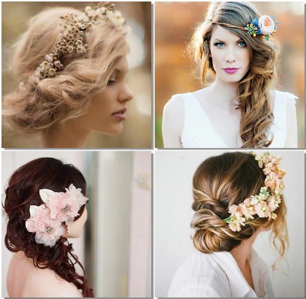 Flores naturales para peinados de novias