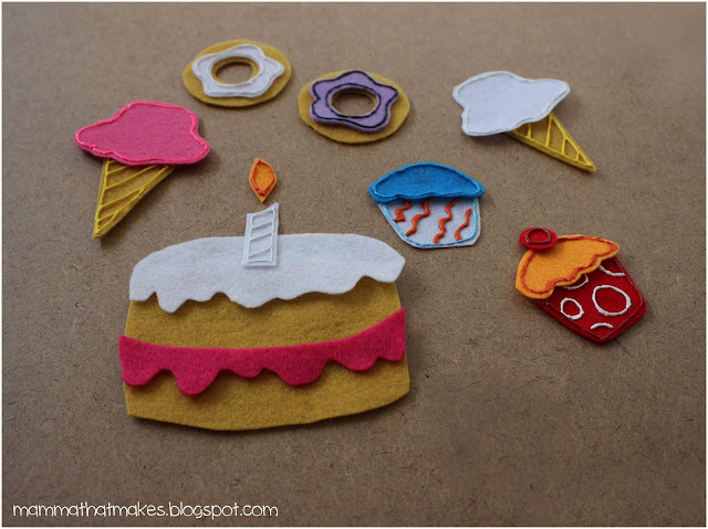 Felt Board Shapes - Sweet Treats