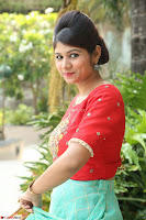 Lucky Shree Looks super cute in Bright Red Green Anarkali Dress ~  Exclusive 043.JPG