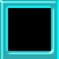 Moldura quadrada azul metálico  - criação Blog PNG-Free
