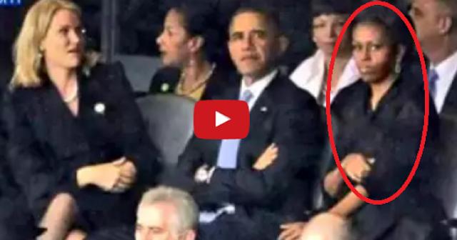 الكاميرات تفضح زوجة اوباما.. بسبب فعلتها هذه! ماذا فعلت زوجة الرئيس الأمريكي أوباما؟