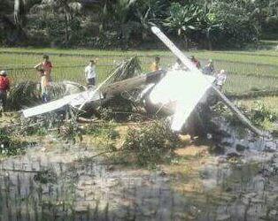 Detik-Detik Pesawat Cessna Jatuh Di Desa Pasir Kujang Kec.Karangnunggal
