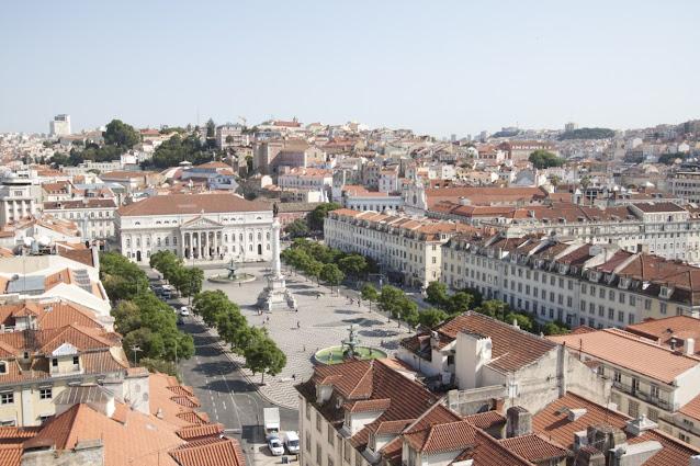 Praça Dom Pedro IV-Lisbona