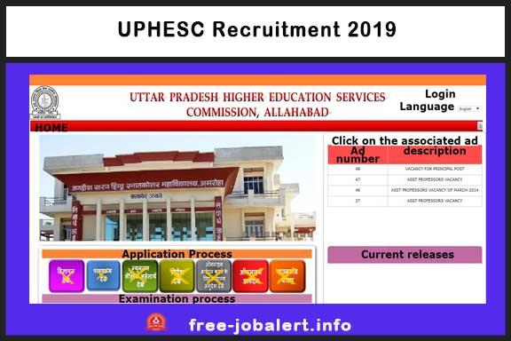 UPHESC Recruitment 2019: Uttar Pradesh Higher Education Commission invites applications for 290 Principal posts