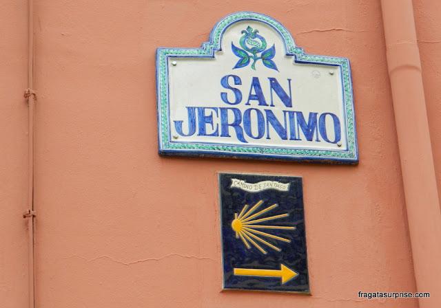 Placa do Caminho de Santiago em Granada
