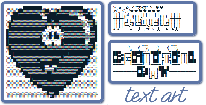 Facebook Text Art (ASCII Art) | Symbols & Emoticons