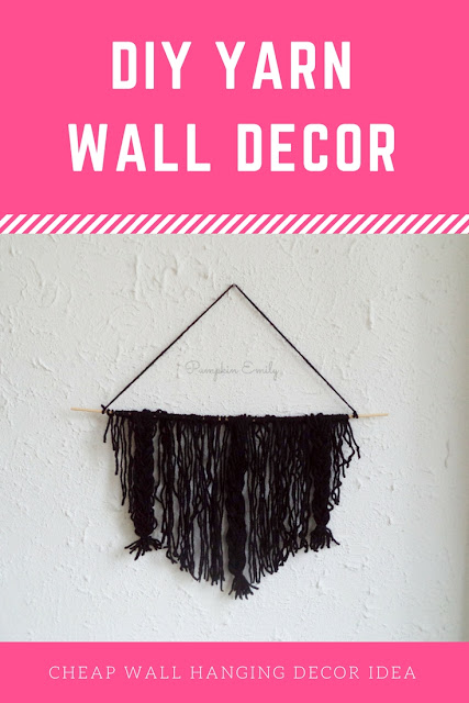 DIY Yarn Wall Hanging Decor Idea | Cheap Wall Hanging Decor Idea