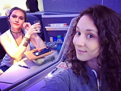 PLL besties Troian Bellisario & Lulu Brud Zsebe on plane to Brazil