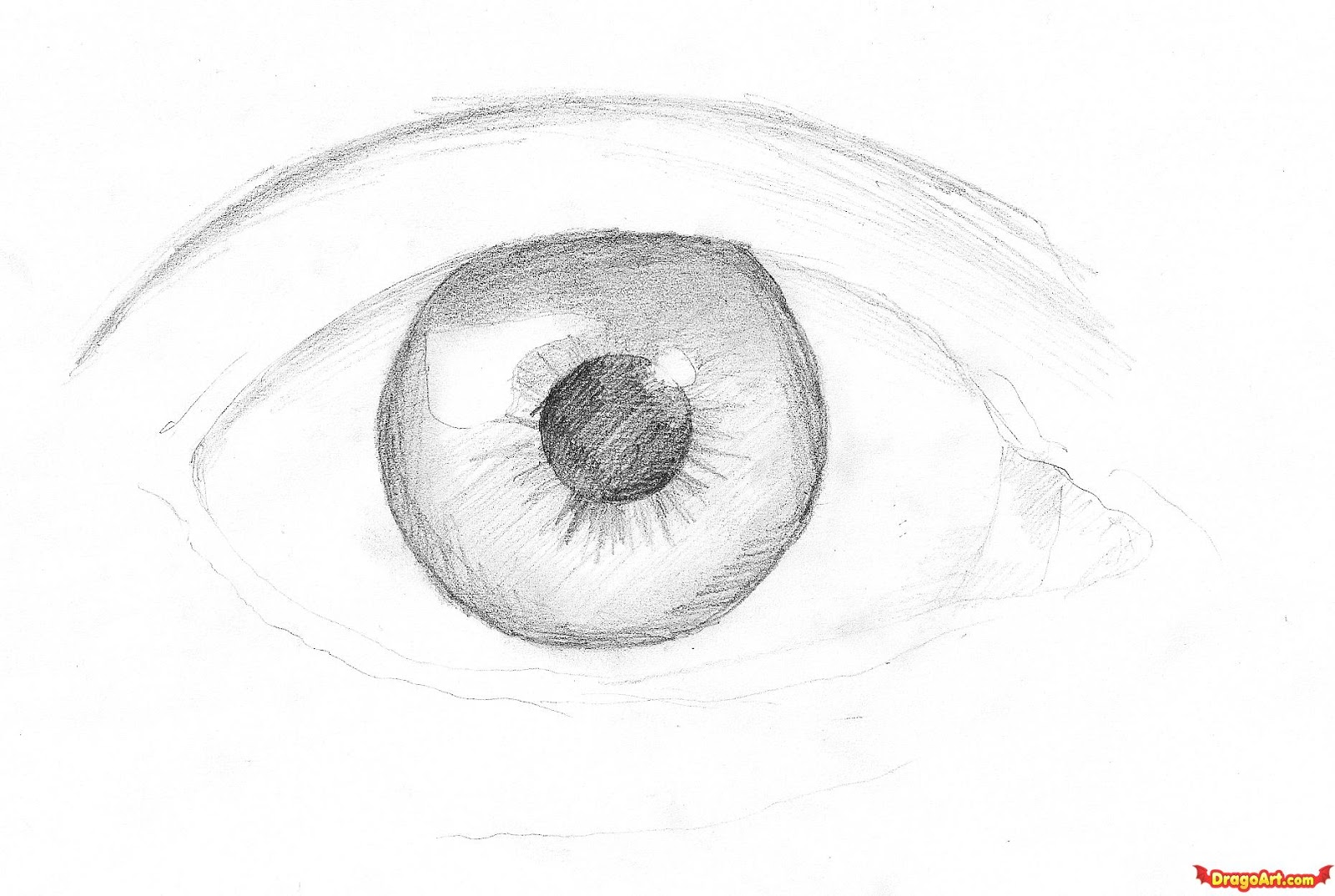 how to draw a realistic female eye step by step