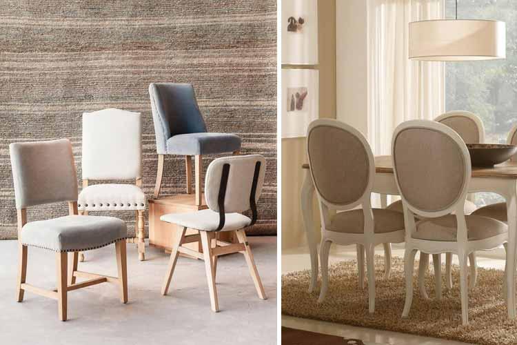 Marzua tipos de sillas de comedor para elegir la m s adecuada for Sillas comodas comedor