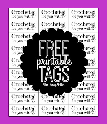 FREE Crocheted with Love Printable Craft Tags by Shalana at The Funky Felter