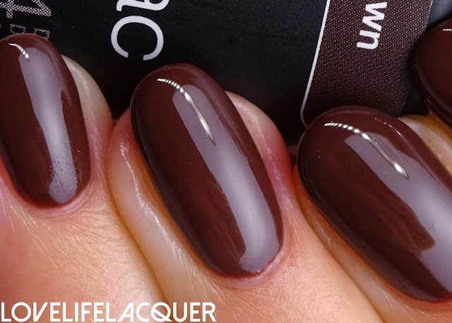 Pink Gellac Chocolate Brown swatch