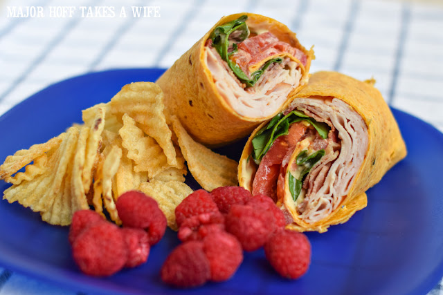 Turkey Bacon Avocado Ranch Sandwich Wrap!