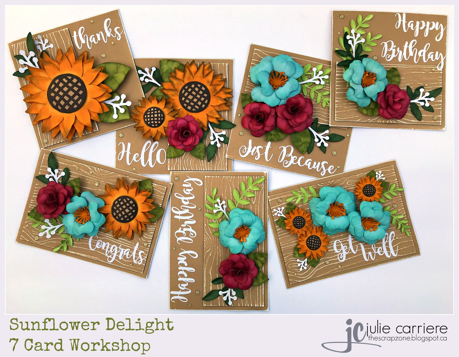 Sunflower Delight Cardmaking Assembly Guide