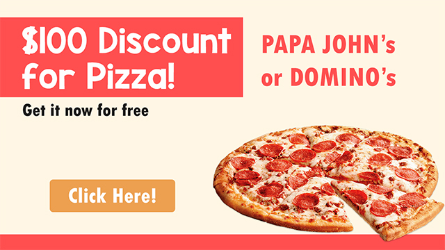 Best discount for pizza