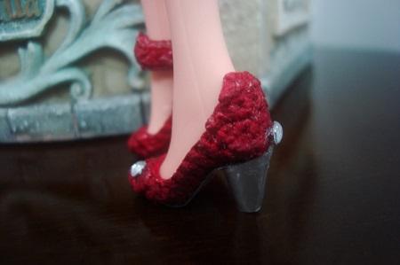Sapatinhos de crochê com pedraria  para Barbie por Pecunia MM