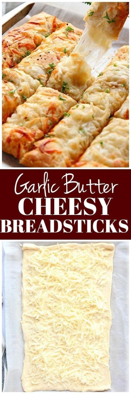 Garlic Butter Cheesy Breadsticks Recipe