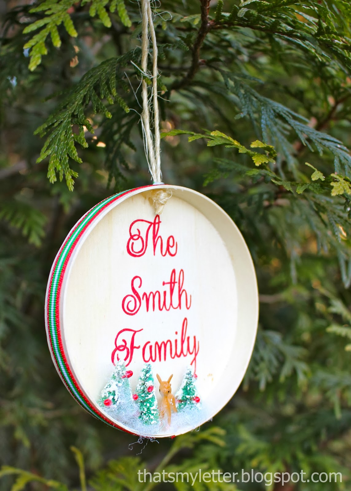 Painted Family Ornament