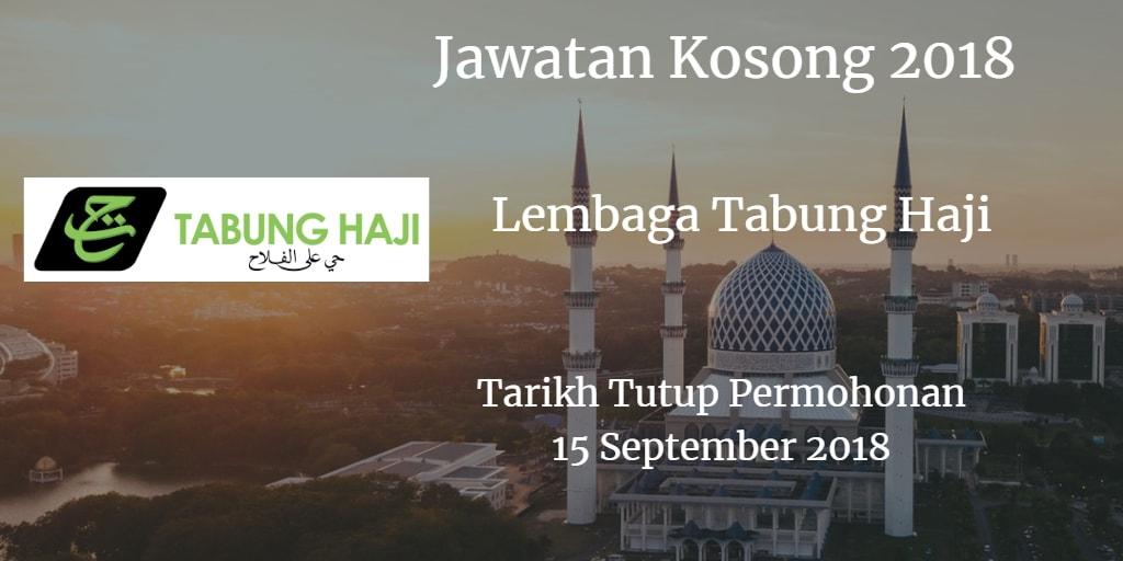 Jawatan Kosong Lembaga Tabung Haji 15 September 2018