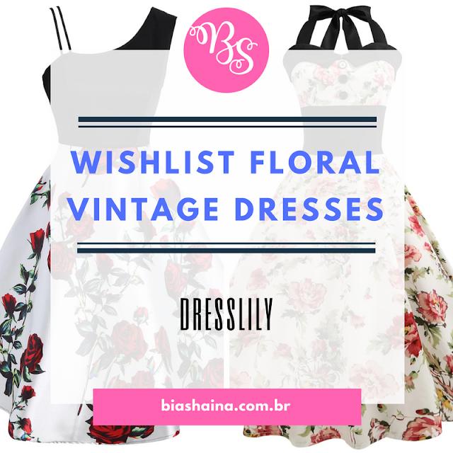 Wishlist Dresslily - Floral Vintage Dresses