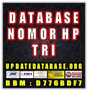 Jual Database Nomor Handphone Khusus Operator Tri
