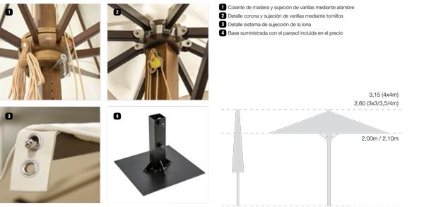 accesorios parasoles luxe