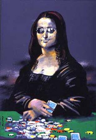 Monalisa con cara de poker · conlosochosentidos.es