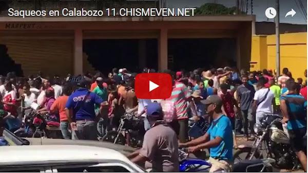 El estado Guárico está siendo devastado por los saqueos