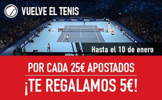 sportium promocion Tenis 1-10 enero 2018