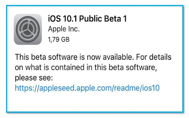 Apple has now released the first beta of iOS 10.1 to public for testing just about 24 hours iOS 10.1 beta 1 was released to developers testers. iOS 10.1 fixes motion, access barometric pressure data