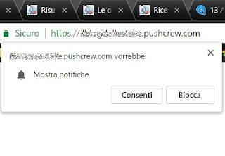 bloccare notifiche siti