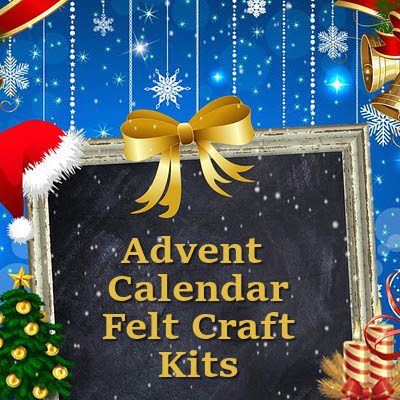 Felt Advent Calendar Craft Kits to Sew by Hand