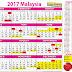 KALENDAR CUTI UMUM MALAYSIA 2017 & CUTI PERSEKOLAHAN 2017